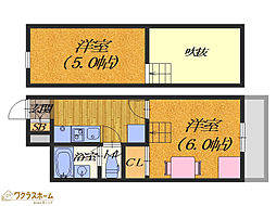 大阪府堺市堺区出島海岸通4丁の賃貸アパートの間取り