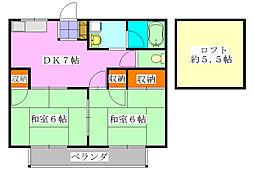 エクセル東船橋A棟[203号室]の間取り