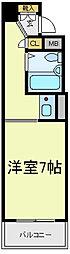 アップル天王寺[6階]の間取り
