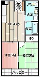 サンコーポ熊本[403号室]の間取り