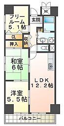 ルミエール神戸[13階]の間取り