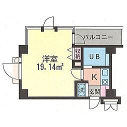 コパーズアプト鶴ヶ峰[101号室]の間取り