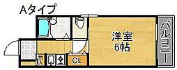 三研BLDインペリアル5号館[2階]の間取り