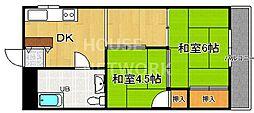 嵯峨野マンション[303号室号室]の間取り