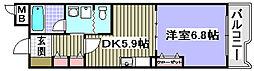 ELLEGRANDE OZU[205号室]の間取り