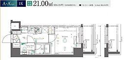 東京都足立区日ノ出町の賃貸マンションの間取り