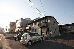 岡山県岡山市北区西古松の賃貸アパートの外観