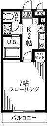 東京都町田市南成瀬6の賃貸アパートの間取り