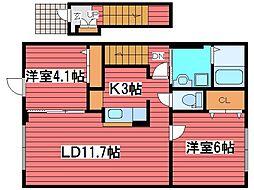 メゾンサニープレス48[2階]の間取り