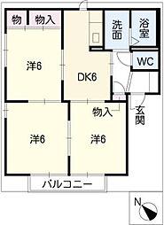 シャトーエレガンス B棟[2階]の間取り