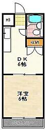 エクセル竹田[507号室]の間取り