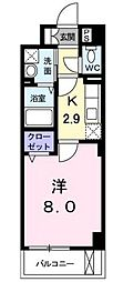 フラットF[2階]の間取り