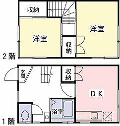 [テラスハウス] 東京都渋谷区代々木2丁目 の賃貸【東京都 / 渋谷区】の間取り