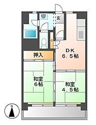 中駒九番団地3号棟[5階]の間取り