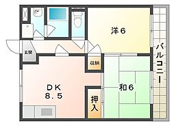 レスターテI[2階]の間取り