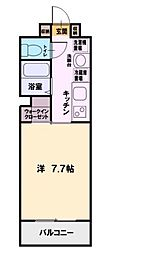 クラージュ湘南[206号室]の間取り