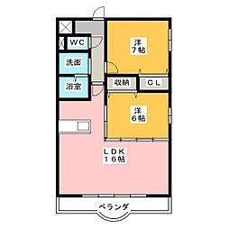 LUNAMARE[3階]の間取り