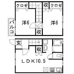 [テラスハウス] 静岡県浜松市西区桜台2丁目 の賃貸【/】の間取り