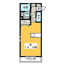 ルピシアー[3階]の間取り