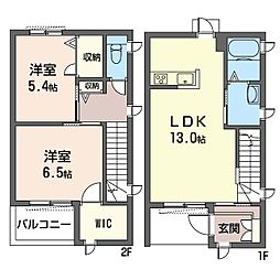 (仮)平塚市北金目3丁目シャーメゾンE[1階]の間取り
