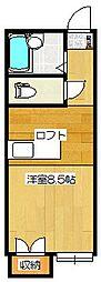 ロイヤルヒルズ桜ヶ丘[206号室]の間取り