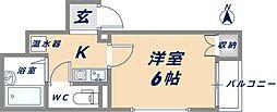 ジュノー小阪[301号室]の間取り