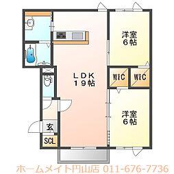 (仮称)北31条西5丁目 新築AP[3階]の間取り
