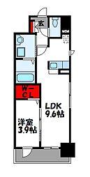 JR篠栗線 柚須駅 徒歩21分の賃貸マンション 5階1LDKの間取り