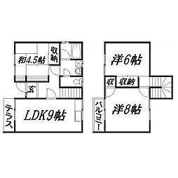 [テラスハウス] 静岡県浜松市東区子安町 の賃貸【/】の間取り
