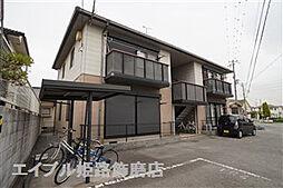 兵庫県姫路市大津区平松の賃貸アパートの外観