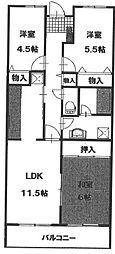 ソシアル検見川2[203号室]の間取り