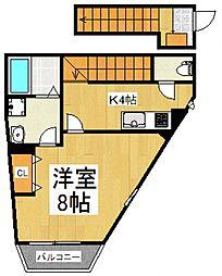 ソレイユA[2階]の間取り