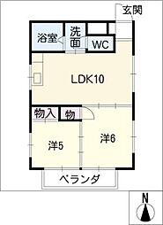 T−WING[3階]の間取り