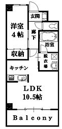 広島県東広島市八本松東3丁目の賃貸アパートの間取り
