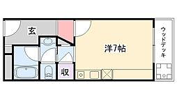 アルカディアマーユ[1階]の間取り