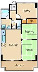 ライオンズマンション泉南樽井第二[6階]の間取り