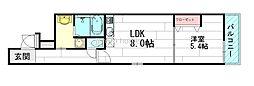 くすのきアパートメント1[3階]の間取り