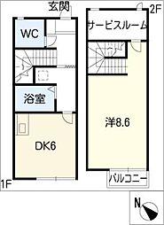 [タウンハウス] 愛知県名古屋市緑区姥子山4丁目 の賃貸【/】の間取り