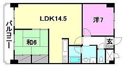 ハイシティ松山[1104 号室号室]の間取り