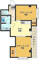 シェスタ[3階]の間取り