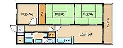 USサニー21[4階]の間取り