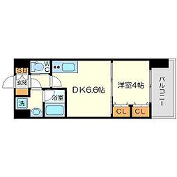 レオングラン新大阪レジデンス[3階]の間取り