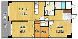 LE GRAND BLEU[5階]の間取り