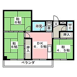 ハイツヨシダ[3階]の間取り