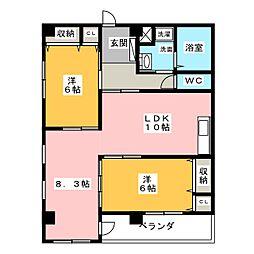 メゾンPINO[6階]の間取り