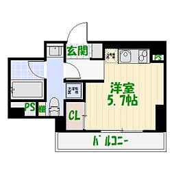 東京都足立区栗原1丁目の賃貸マンションの間取り