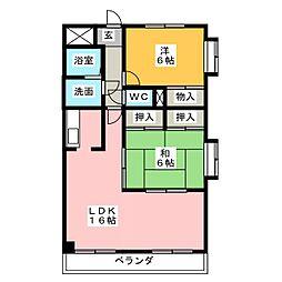ロイヤル百番館[3階]の間取り