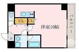 京阪本線 森小路駅 徒歩1分の賃貸マンション 6階1Kの間取り