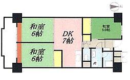 ビレッジハウス浜松タワー[7階]の間取り