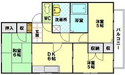 ディアス宮島B[2階]の間取り